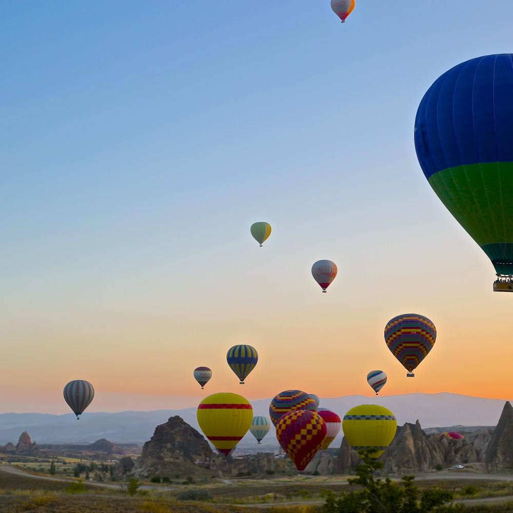 Mange luftballoner